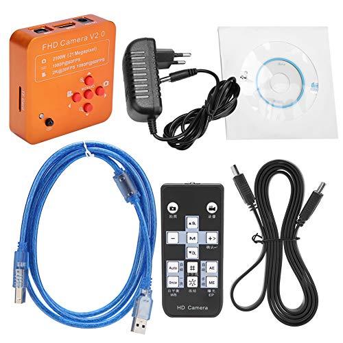 Akozon Fotocamera per Microscopio Elettronico Industriale 1000X 21MP Magnifier LCD HDMI C-mount Fotocamera Digitale HD 2K 1080P