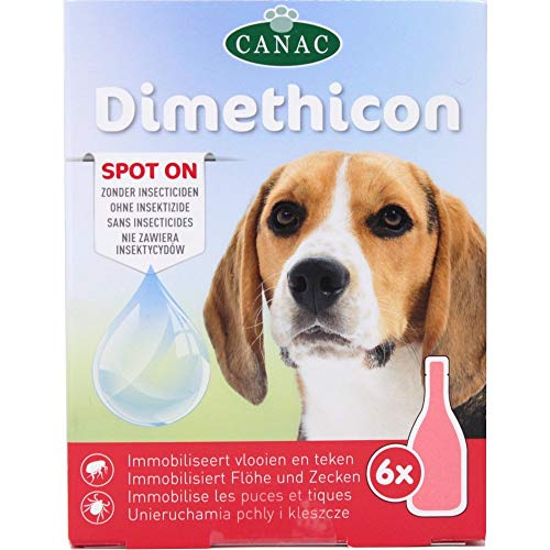 DIMETHICON - Pipetas anti-garrapatas y antipulgas 'Spot On' para perros, x 6 pipetas