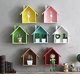 Jellbaby Creativa casa pequeña multipropósito multi - estante de plantas de carne decorativo marco colgante de madera * 1 pieza (marrón)