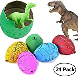 Jofan 24pcs Dinosaur Eggs That Hatch Growing Toys with Mini Dinosaur Figures Inside for Kids Boys Girls Easter Basket Stuffers Fillers Easter Gifts