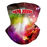 Papa-John's-Loves-Pizza- Multifunctional Neck Gaiter Face Mask Face Scarf Headbank for Hunting Outdoor