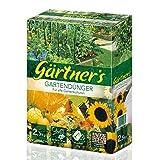 Gärtner's Gartendünger 2,5 kg I NPK Dünger für Obst, Gemüse, Stauden und Blumen I Organischer Dünger zur Bodenverbesserung I Volldünger NPK Dünger 6+3+8 I Für bis zu 20 m2