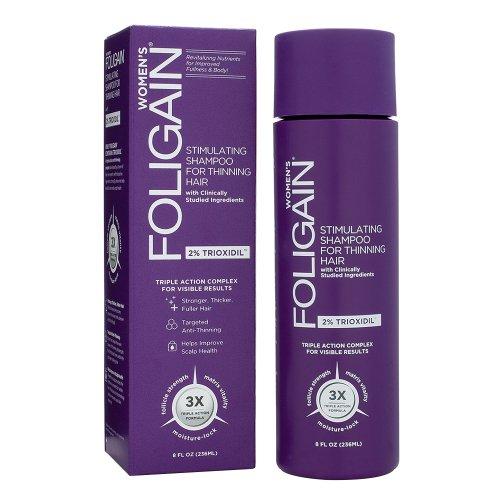 Foligain® Frauen Anti-Haarausfall Shampoo | 2% Trioxidil | Gegen Feines & Dünner Werdendes Haar | Natürliche Wirkstoffe (1)
