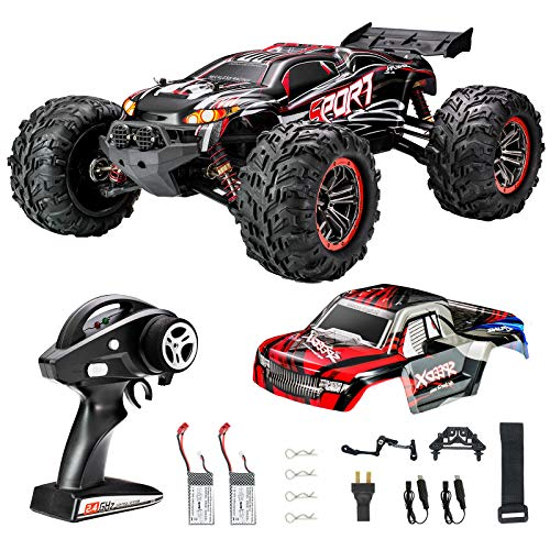 FLYHAL X04 PRO Remote Control Car RC Car 52km/h 32MPH 1:10 Scale 4WD Off-Road Rc Car for Adults and Kids Replaceable Car Shell 2.4 GHz Truck (2 Batteries)