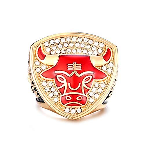 WSTYY NBA 1993 Chicago Bulls Jordan Championship Ring Campeonato Anillos,Campeones Anillo de réplica para Aficionados de los Hombres de la colección del Regalo del Recuerdo de la Pantalla