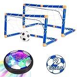 WQ Kids Toys Hover Soccer Ball Set, Air Soccer with Led Light, Excellent Time Killer for Boys/Girls, USB...