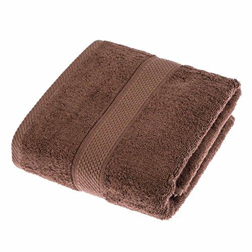 HOMESCAPES Toalla de baño, 100% algodón Turco Absorbente y Suave, Color Marrón Chocolate 70 x 130 cm