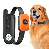 Dog Training Collar, Rechargeable Dog Shock Collar with Remote, 3 Training Modes, Beep, Vibration and Shock, 100% Waterproof Dog Bark Collar, 1300 ft Range Shock Collar for Small Medium Large Dogs