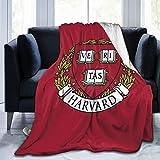Cacazi H-Arvard University Throw Blanket Ultra Soft Flannel Fleece All Season Light Weight Living Bedroom Warm Blanket