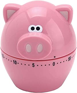 MSC International Joie Piggy Wiggy Timer, 60-Minute Mechanical, Pink
