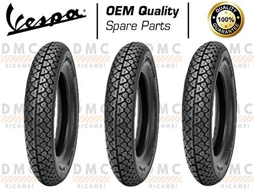 Kit de 3 neumáticos para neumáticos de 3,50 – 10 Vespa PX todos los modelos – Vespa LML Star – Vespa Arcobaleno diseño Michelin