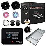 SteamSpa Raven Series Wifi and Bluetooth 12kW QuickStart Steam Bath Generator Package Oil Rubbed Bronze | Touch Screen Wifi App Control Steam Shower Kit with Drain pan and speakers | SS-RVB1200ORB-A