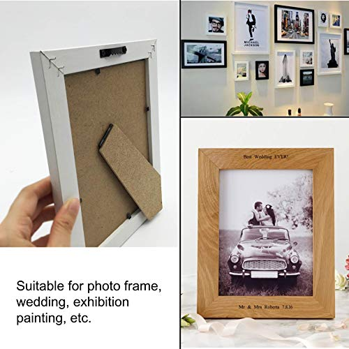 EesTeck 50 Pack Small Sawtooth Picture Hangers Steel Picture Hanging Picture Frames Hangers with Screws Picture Hang Solutions, for Hanging Clock Paintings Artwork Picture Frame Hook Photos (Black)