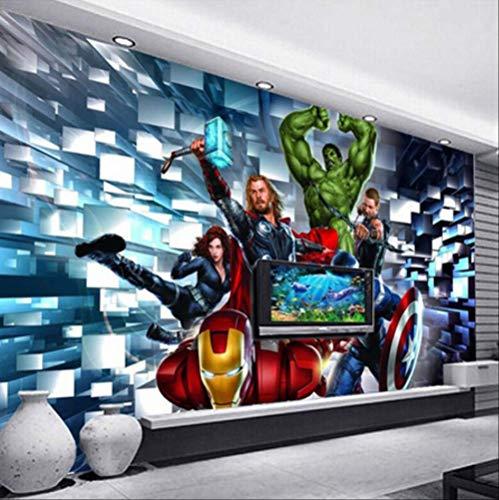 3D Wallpaper Modern Cartoon Children's Bedroom Murals Boys Kids Bedroom Self-Adhesive Waterproof Wall Stickers Home Decor Poster