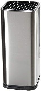 GuDoQi Porta Cuchillos Cocina Universal Acero Inoxidable Portacuchillas Cuadrado Suave al Tacto para Almacenamiento Seguro de Cuchillos para Ahorro de Espacio