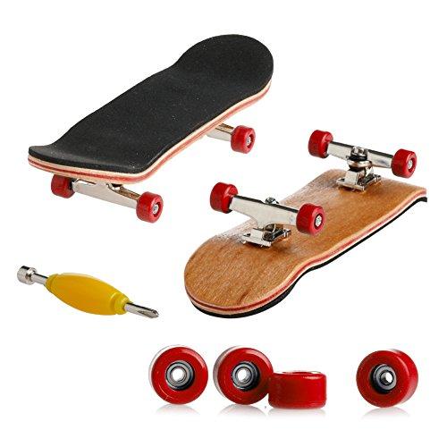 WOWOWO 1Set Holzdeck Griffbrett Skateboard Sportspiele Kinder Geschenk Ahorn Holz Set
