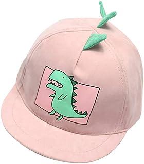 Baby Hat Kids Hat Baby Boys Girls Cute Dinosaur Style Mesh Baseball Cap Peaked Bucket Sun Protection Hats - Light Pink