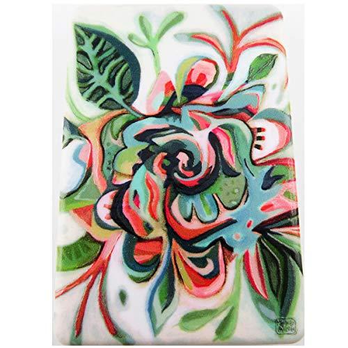 Allen Designs [R1974] - Miroir de poche 'Allen Designs' vert multicolore (floral) - 8.5x5.5 cm