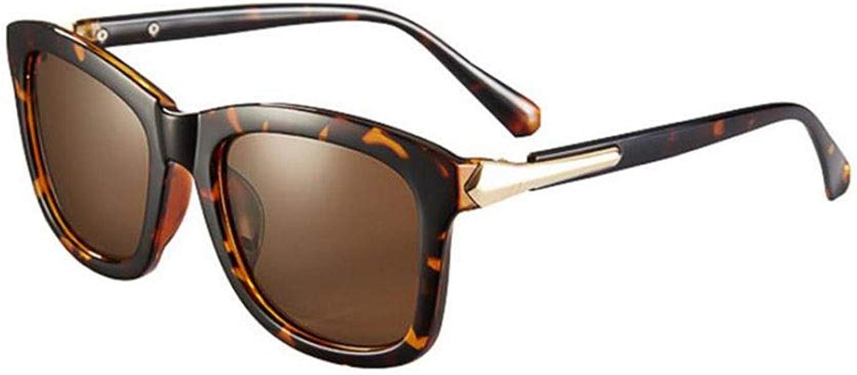 ECSD Fashion Square UV Predection Sunglasses for Women 100% HD Sun Glasses (color   Tea color)