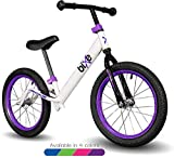 Purple Pro Balance Bike for Big Kids and Kids with Special Needs - 16' No Pedal Glide Training...