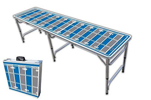 8-Foot Professional Beer Pong Table - Detroit Football Field Graphic