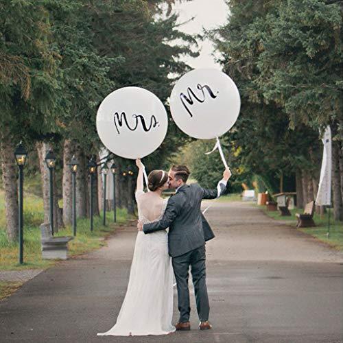 Amycute Riesen Hochzeits Ballons, 2 Stück 36