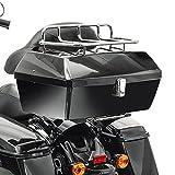 Baul custom Coffin Vramack Seven 43L con respaldo y parrilla Negro Brillo VR01-001 o Mate VR01-006