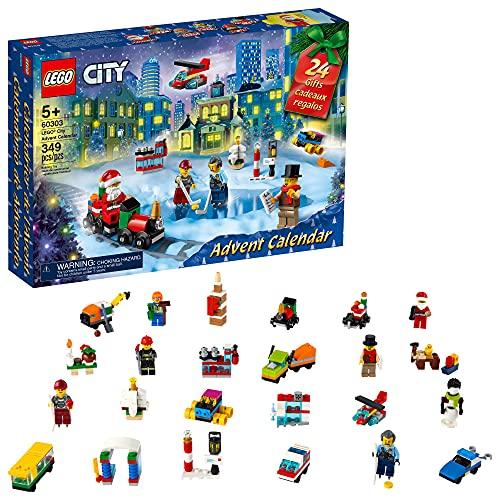 LEGO City Advent Calendar 60303 Building Kit; Includes City Play Mat;...