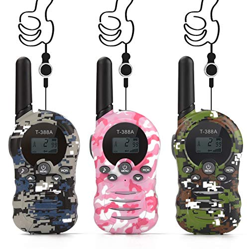 Walkie Talkies for Kids,Toys for 3-12 Year Boys Girls to Outside Adventure,22 Channels 2 Way Radio Kid Toy 3 Miles Long Range with,Outdoor Camping Hiking Fun Toy Birthday Best Gift 3 Pack Camouflage