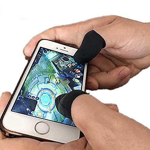 Benrise Gaming-Handschuhe, perfekte bequeme Passform, 10-teiliges Mobile Finger-Sleeve, Touchscreen-Game-Controller, schweißfeste Handschuhe für Handyspiele