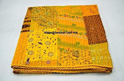 返品交換不可 Embrodiery Beautiful Handmade Vintage 内祝い Silk K Jari Patchwork Sari