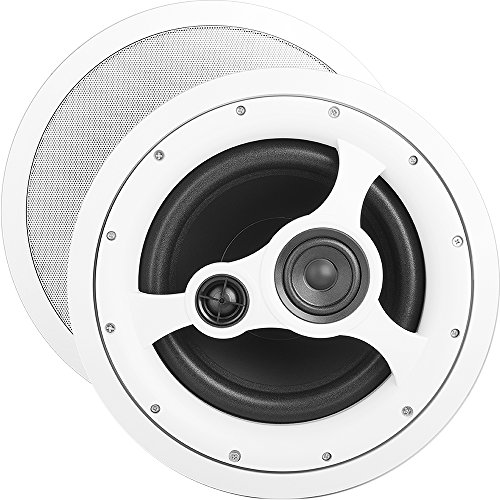"""OSD Audio 10"""" in-Ceiling Speaker – 150W Stereo System, Pivoting Tweeter, ICE1080HD"""