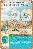 La Dolce Vita Malfy Gin Limone Tonic Metall 20,3 x 30,5 cm