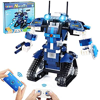 Yerloa STEM Robot Building Kit for Kids, Remote Control Engineering Robot Building Blocks Science Educational Toys Gifts for Boys Girls Teens 8+ Yr Old (349pcs)