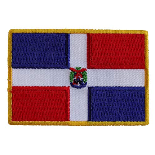 Dominican Republic Patch - 3x2 inch. Embroidered Iron on Patch