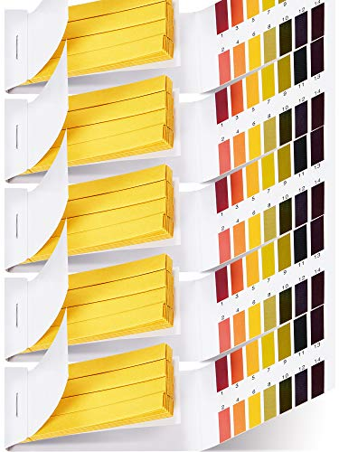 400 Stücke Test Papier pH Prüfung Streifen Lackmus Test Papier Universal pH Testen Sets 1-14 pH Prüfung Papier Streifen für Wasser, Schwimmbad, Aquarium, Bodenuntersuchung