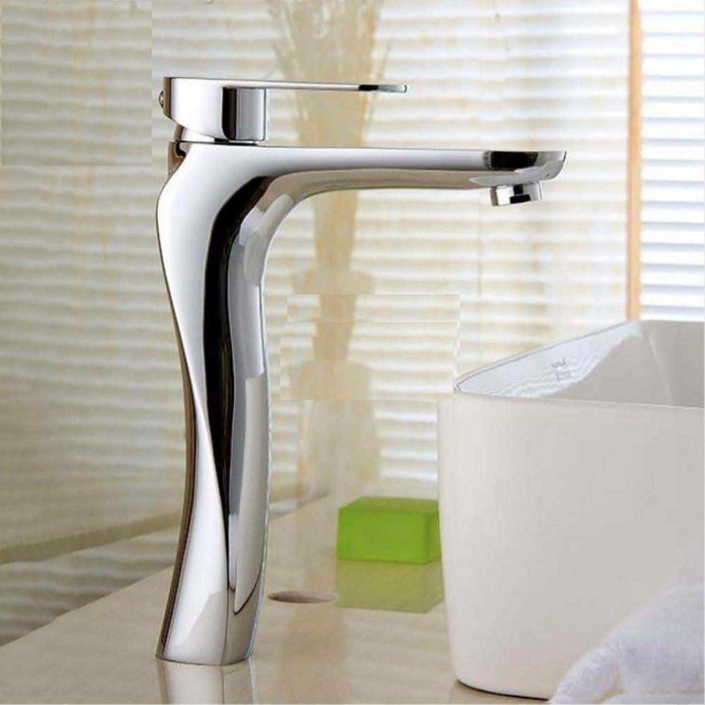 Knncch Waschtischarmaturen Massivem Messing Chrom Moderne Waschbecken Wasserhahn Einzigen Handgriff Waschbecken Hei Kaltmischer Wasserhahn