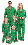 PajamaGram Family Christmas Pajamas Soft - Charlie Brown, Green, Kids, 8