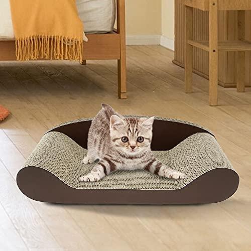 Powanfity 猫 爪とぎ 爪研ぎ ダンボール 50CM/60CM/70CM つめとぎ ねこ 猫 猫ベッド ハウス 高密度 耐久 爪磨き ストレス解消 家具破壊防止 (70*33.5*13.5CM)