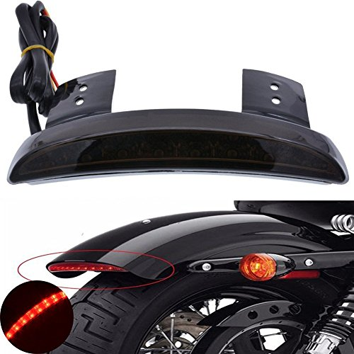 TUINCYN universale moto fanale con portatarga luci di arresto del freno per Harley Kawasaki Custom Bike Cruiser chopper Honda Yamaha Suzuki nero