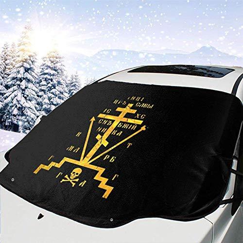 JONINOT Cruz del Calvario de la Iglesia Ortodoxa Rusa Todo Clima Universal Invierno Parabrisas de Coche Cubierta de Nieve Eliminación de Hielo Parasol