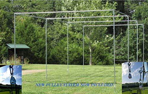 Batting Cage Frame Kit 10' x 12' x 30' EZ UP & Down Baseball Softball Frame Kit