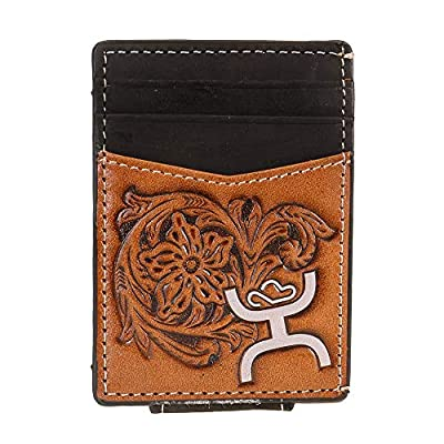 "Western Trenditions Llc Mens Hooey Signature Money Clip Wallet 2 3/4"" x 1/8"" x 4"" Brown/Black"