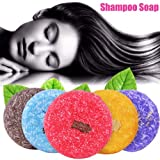 Delaman Shampoo Soap natürliche pflanzliche handgemachte Seife, Haarwuchs nährende, Duft Shampoo...