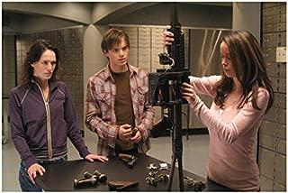 Terminator: The Sarah Connor Chronicles 8x10 Photo Thomas Dekker, Lena Headey & Summer Glau Standing at Weapons Table kn
