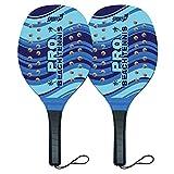 Racchettoni Beach Tennis Racchette da Spiaggia Racchette da casa racchettoni in Legno Adulto Bambino...