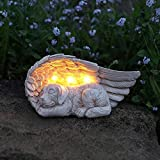 """Dog Memorial Stone Solar Powered: Solar powered light dog memorial stone. Keep the dog memorial stone switch in """"ON"""" position when get direct sunshine, charging automatically in the daytime and light up at night. Pet Memorial Stones Light: The pet me..."""