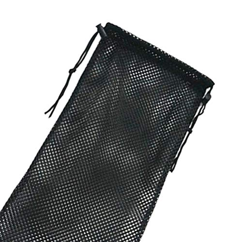 LIOOBO Almohadillas de Tobillo Bolsa de Malla Equipo de Buceo Snorkel Bolsa de Almacenamiento Bolsa de Asas Paquete Bolsillo (Negro)