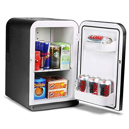 Refrigeratore mini frigo da 14 litri e scaldino nero