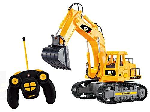 TopRace Boy 7Channel Full Functional Excavator, Giallo, 35.6x 15.2x 20.3cm